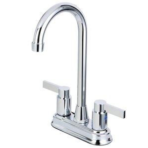 Kingston Brass Nuvofusion Double Handle Centerset Kitchen Faucet