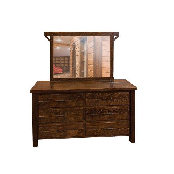Digby 6 Drawer Double Dresser with Mirror by Loon Peak Loon Peak