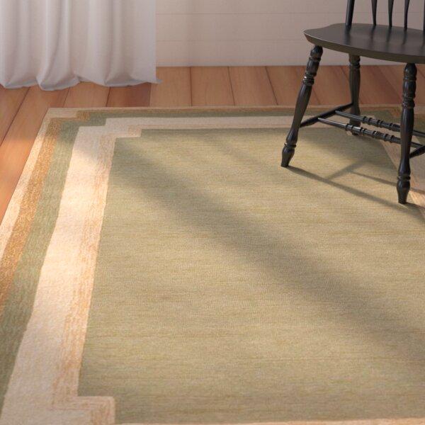 Dazey Hand-Tufted Green/Beige Indoor/Outdoor Area Rug by August Grove