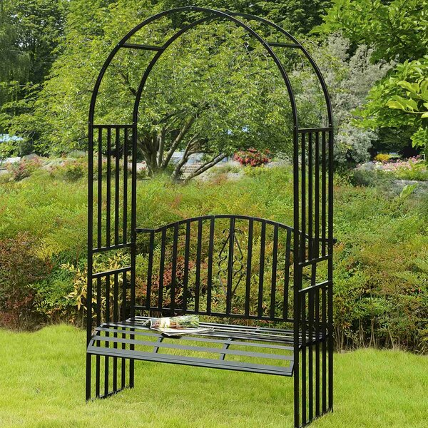 Selena Steel Arbor with Bench by Sunjoy