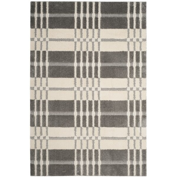 Connor Cream/Gray Area Rug by Ebern Designs