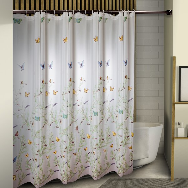 Obi Floating Butterflies Shower Curtain by August Grove