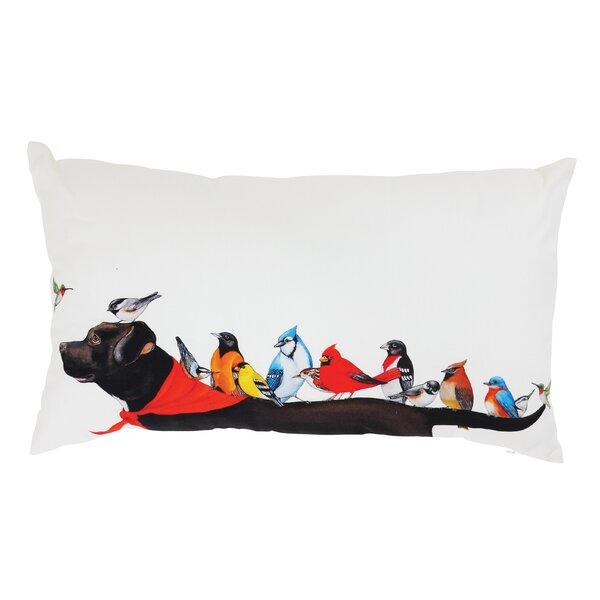Gardener Birds on Dog Cotton Lumbar Pillow by Winston Porter
