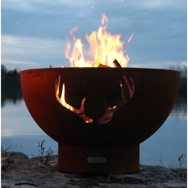 Antlers Steel Fire Pit by Fire Pit Art