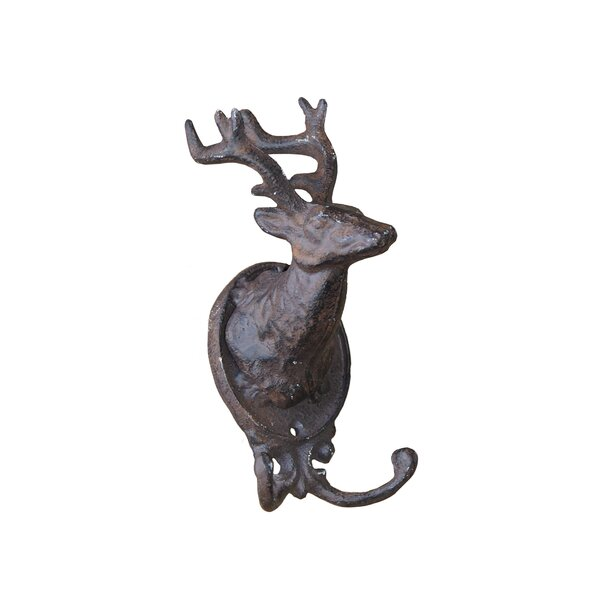 Cast Iron Stag Wall Hook by American Mercantile