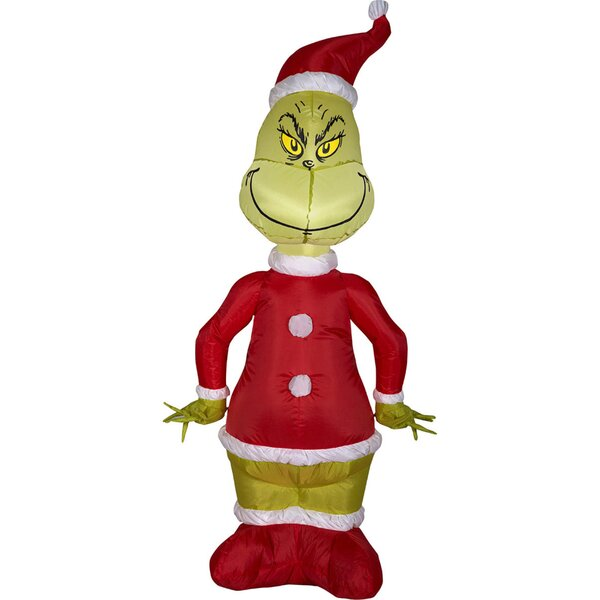 Airblown Grinch as Santa Inflatable by Gemmy Industries
