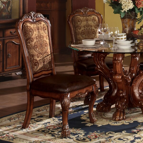 Welliver Traditional Upholstered Dining Chair (Set of 2) by Astoria Grand
