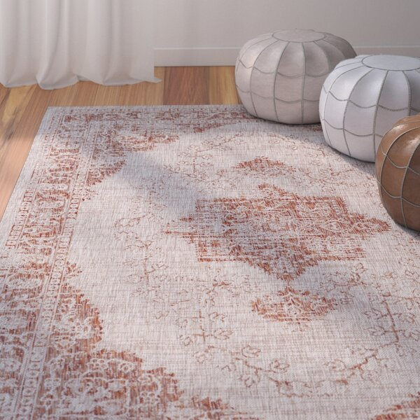 Alexzander Burnt Orange Area Rug by Mistana