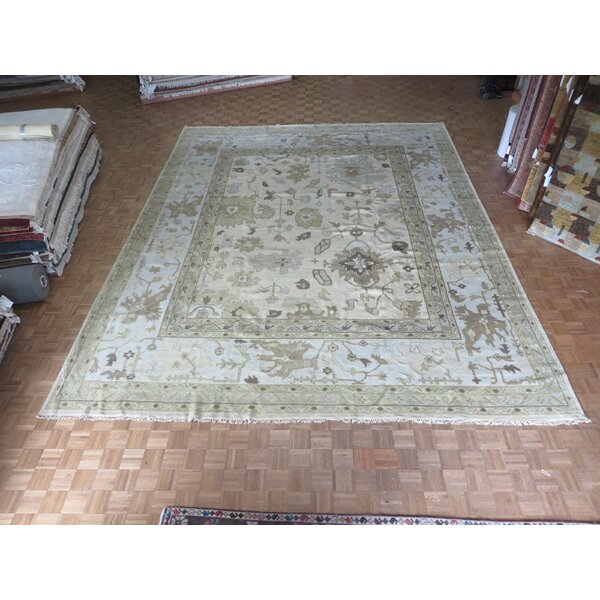 One-of-a-Kind Rhyne Oushak Hand-Knotted Ivory Area Rug by Astoria Grand