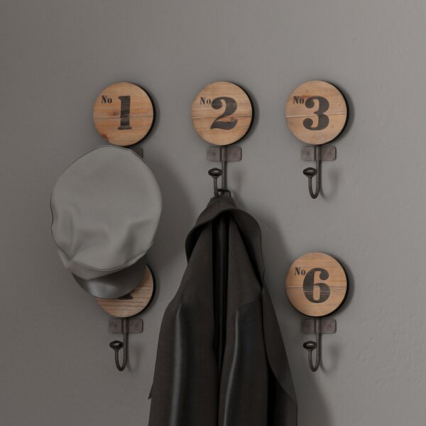 Maesa Wall Hook (Set of 6) by Wildon Home ®