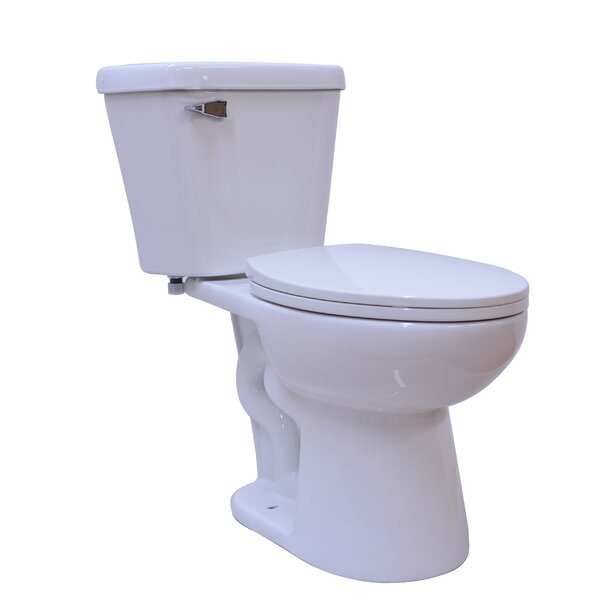 Basic Single Flush 2 Piece 1.28GPF Elongated Toilet by UCore