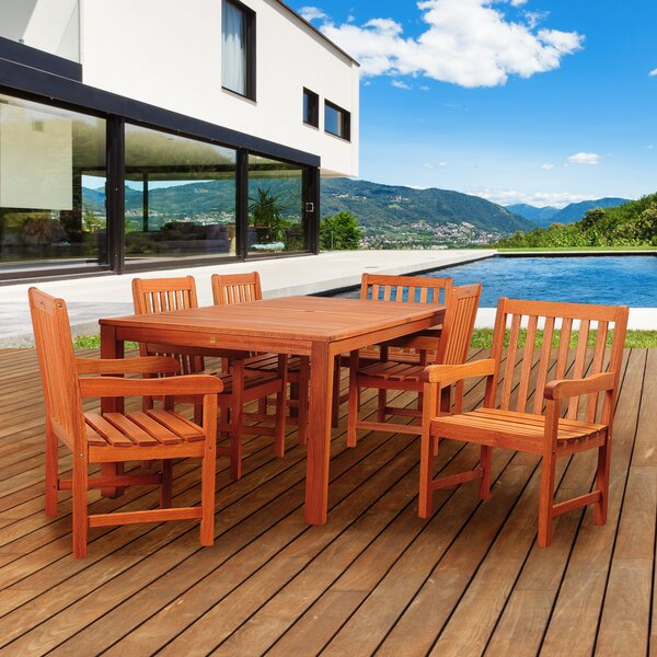 Twining International Home Outdoor 7 Piece Dining Set by Highland Dunes
