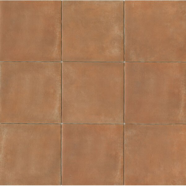 Cotto Nature 14 x 14 Porcelain Field Tile in Matte Siena by Bedrosians
