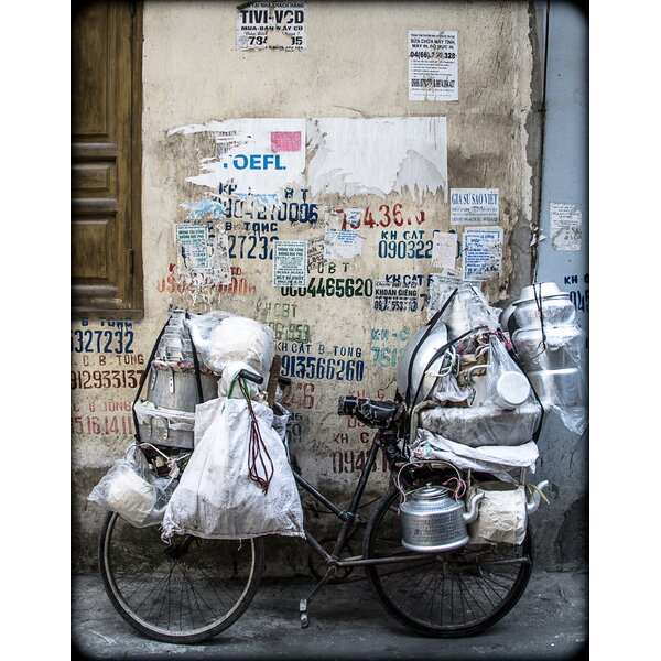 Wok Bike by Michael Anderson Framed Photographic Print by Evive Designs