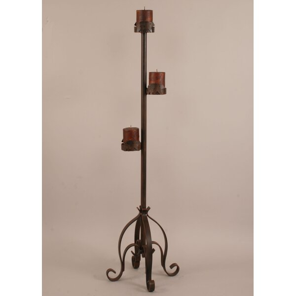 Rustic Living Iron Candlestick by Coast Lamp Mfg.