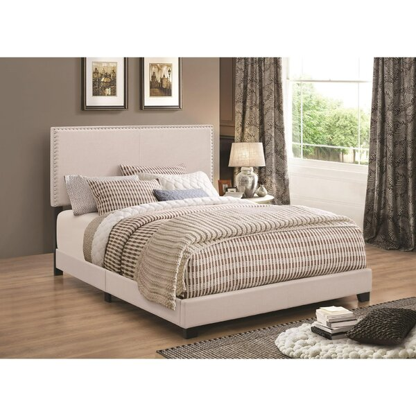 Kenworthy Upholstered Sleigh Bed by Charlton Home