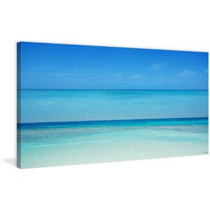 'Clear Blue' by Parvez Taj Painting Print on Wrapped Canvas by Beachcrest Home