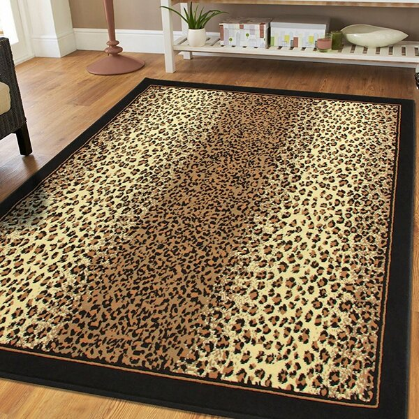 Prejean Cheetah Animal Print Leopard Brown Indoor/Outdoor Area Rug by Bloomsbury Market