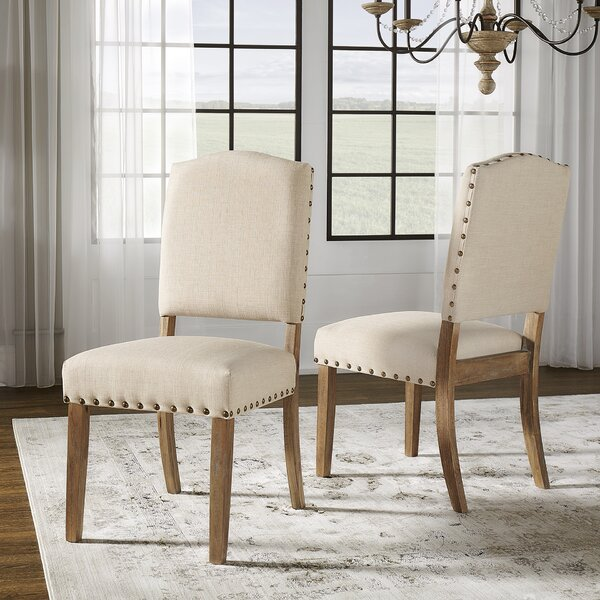 Pompon Upholstered Dining Chair (Set of 2) by Lark Manor