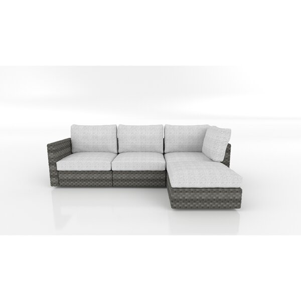Silliman Patio Sectional with Cushions by Bayou Breeze