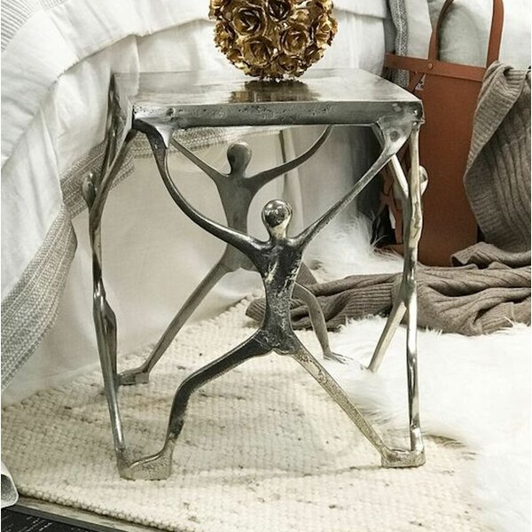 Aluminum Man Figure Accent Stool by Modern Day Accents