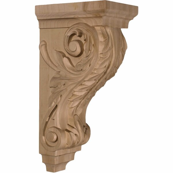 Acanthus 14H x 5W x 7D Large Wood Corbel in Hard Maple by Ekena Millwork