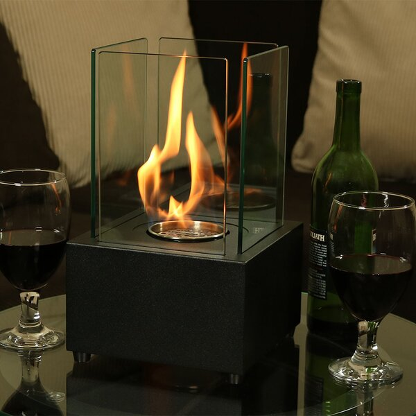 Cubic Ventless Bio-Ethanol Tabletop Fireplace by Wildon Home ®