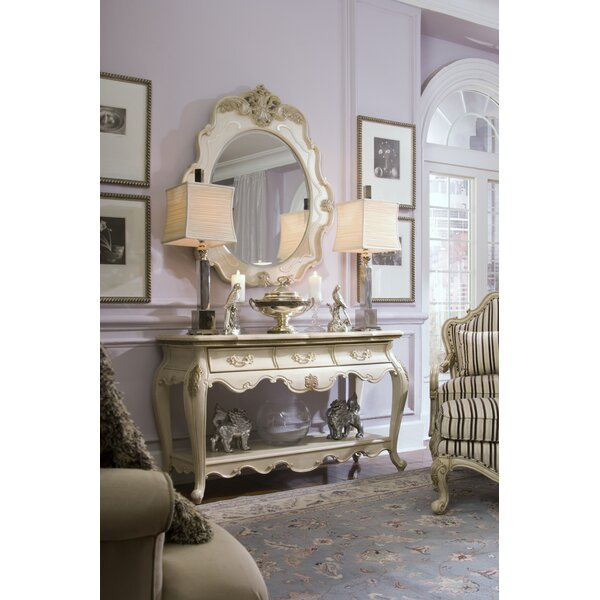 Lavelle 52.25-inch Solid Wood Console Table and Mirror Set by Michael Amini Michael Amini