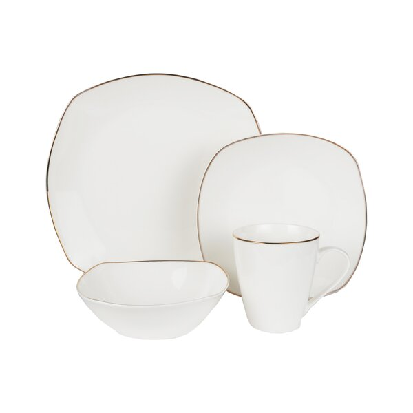 Meriden Bone China 16 Piece Dinnerware Set, Service For 4 by Alcott Hill