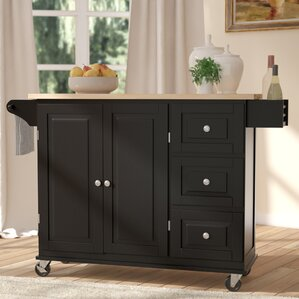 Kitchen Island Cart Black black kitchen islands & carts you'll love | wayfair