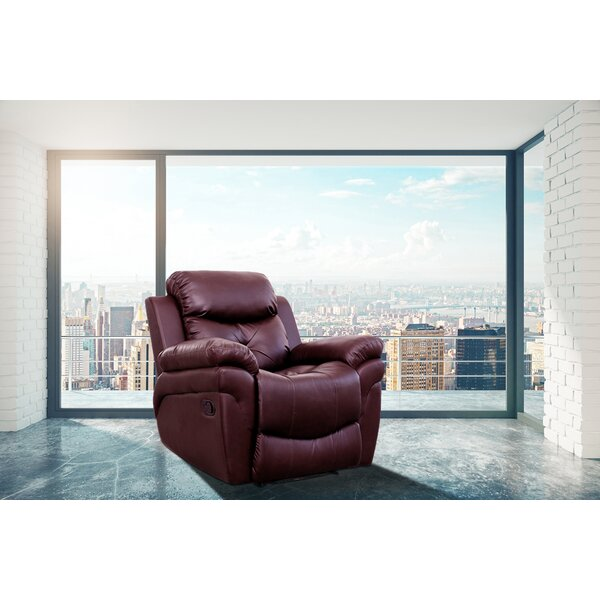 Marvelous Maroon Leather Recliner Wayfair Gmtry Best Dining Table And Chair Ideas Images Gmtryco