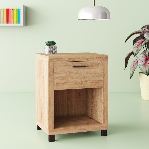 Edwidge 1 Drawer Nightstand by Hashtag Home