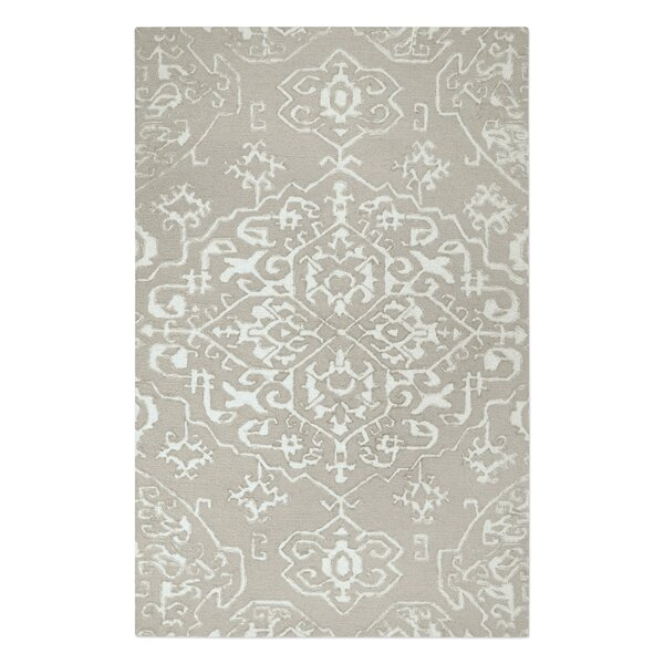 Brionna Hand-Woven Wool Beige/Ivory Area Rug by Red Barrel Studio