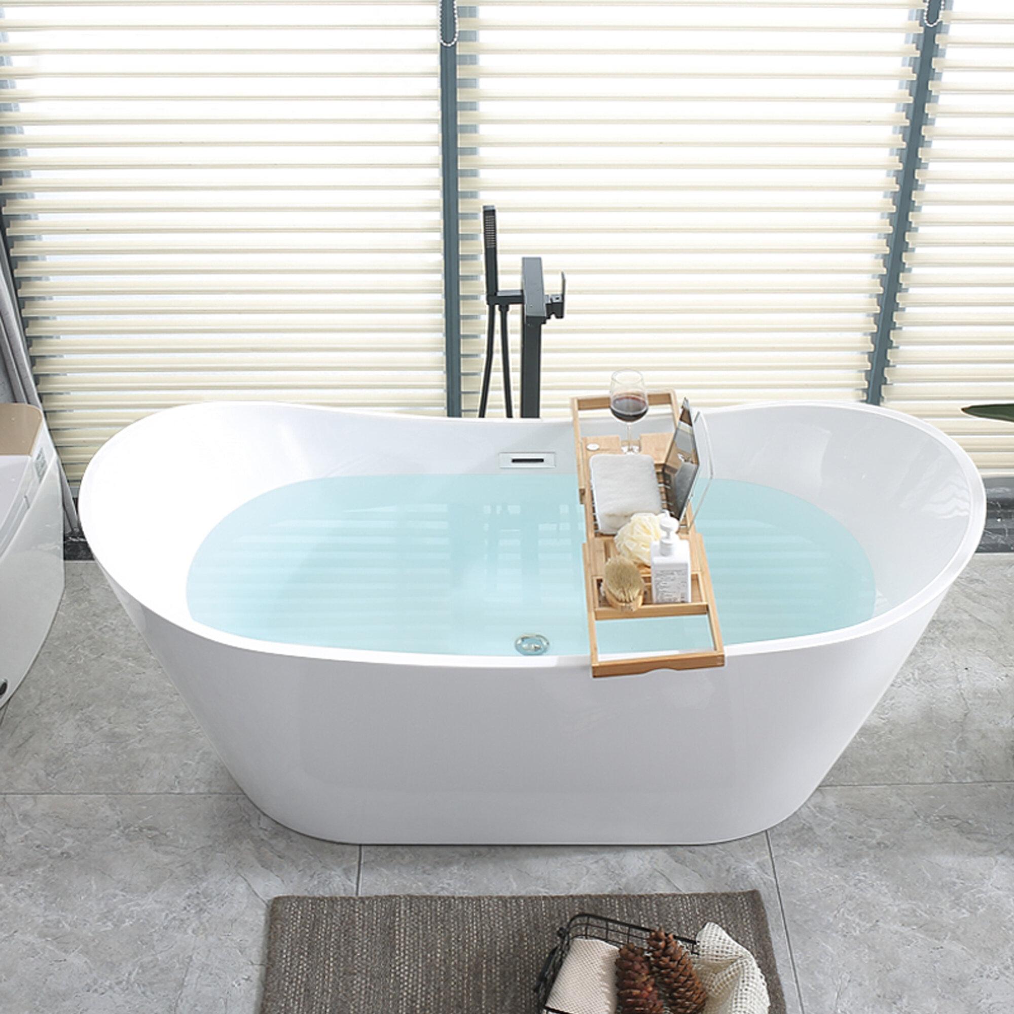 Picture of: Birch Lane Andrei 70 X 32 Freestanding Soaking Acrylic Bathtub Reviews Wayfair Ca