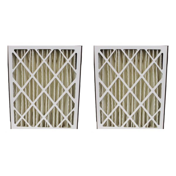 GeneralAire 14201 and 4501 Pleated Furnace Air Filter (Set of 2) by Crucial