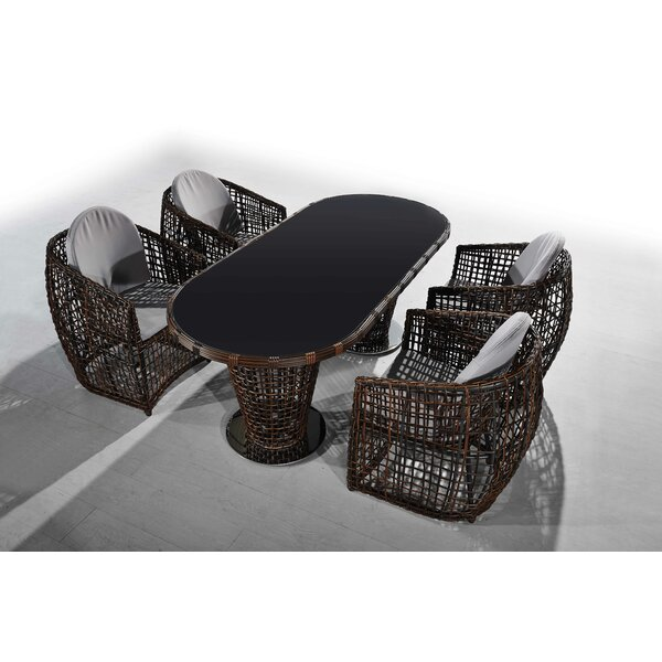 Krout Nest 5 Piece Dining Set by Bayou Breeze