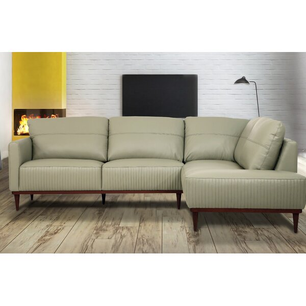 Bow Leather Sectional by Corrigan Studio