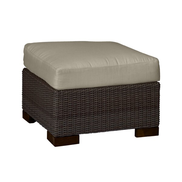 Club Woven Outdoor Ottoman with Cushion by Summer Classics