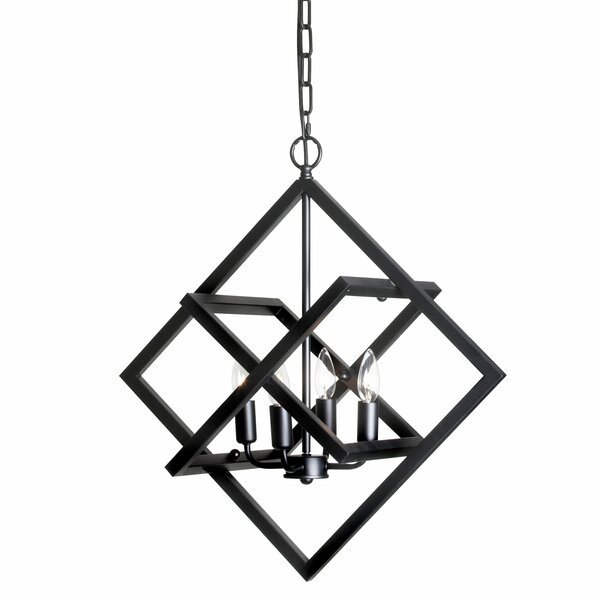 Summersville 4-Light Candle Style Square / Rectangle Chandelier by Wrought Studio Wrought Studio