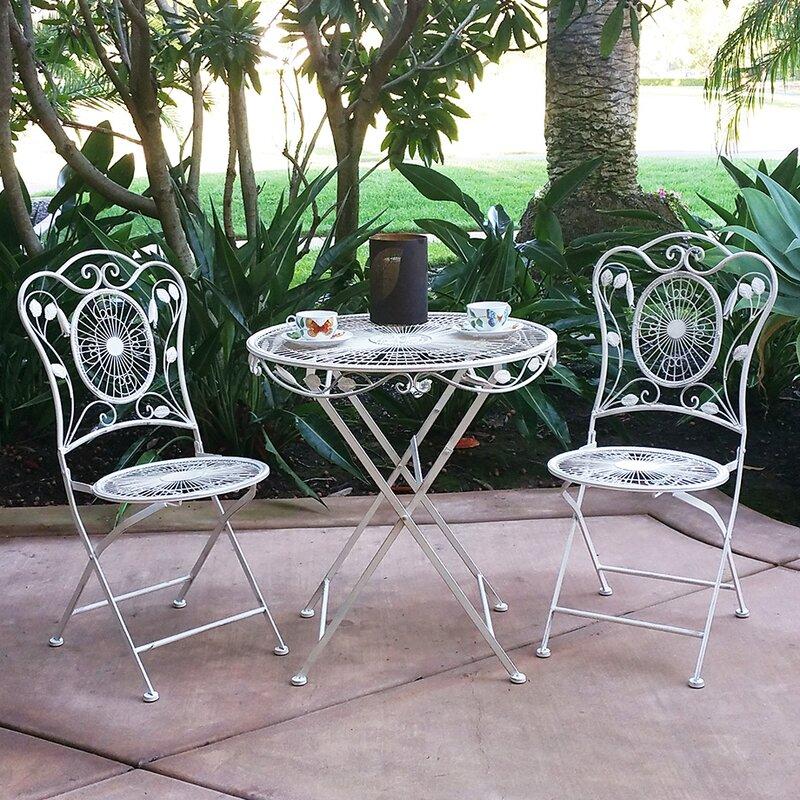 vandue corporation bordeaux 3 piece bistro dining set reviews wayfair. Black Bedroom Furniture Sets. Home Design Ideas