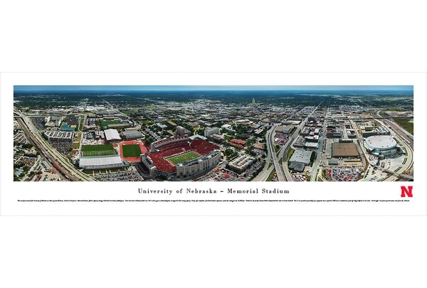 NCAA Nebraska, University of - Aerial by James Blakeway Photographic Print by Blakeway Worldwide Panoramas, Inc