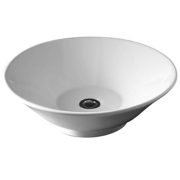 Colony Celerity Ceramic Circular Vessel Bathroom Sink by American Standard