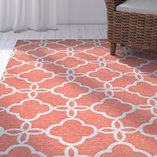 Locklin Hand-Knotted Indoor/Outdoor Area Rug by Beachcrest Home