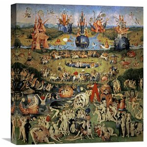 'The Garden of Earthly Delights (Center Panel)' by Hieronymus Bosch Painting Print on Wrapped Canvas by Global Gallery