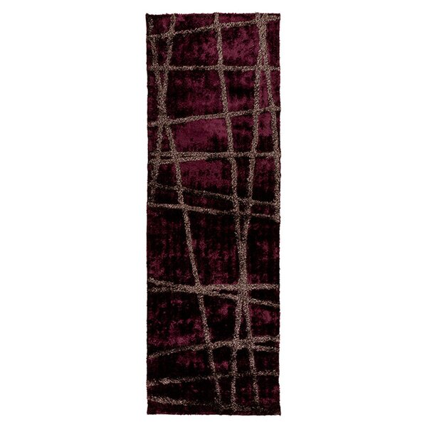 Halterman Wine/Raisin Geometric Area Rug by Wrought Studio