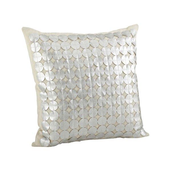 Amalia Circle Cutwork Cotton Throw Pillow by Saro