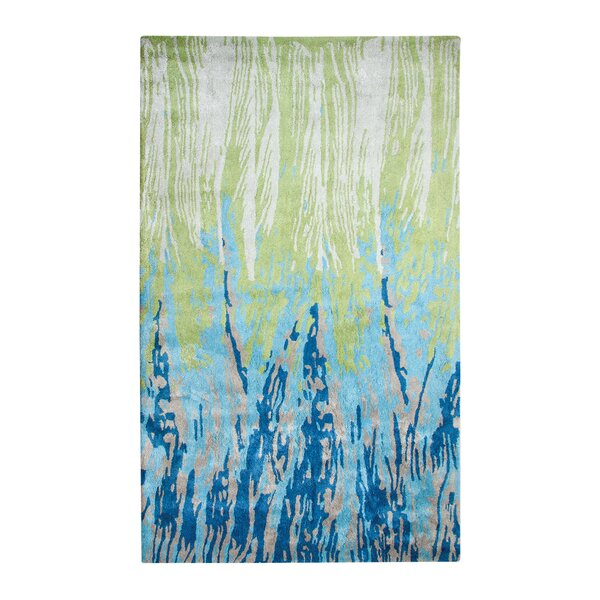 Vogue Hand-Woven Wool Blue/Green Area Rug by Dynamic Rugs
