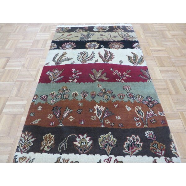 One-of-a-Kind Railey Hand-Knotted Wool Red/Green Area Rug by Astoria Grand