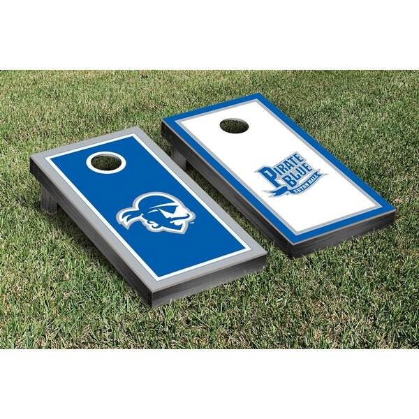 NCAA Border Wooden Alternating Cornhole Game Set by Victory Tailgate