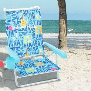 Lay Flat Reclining Beach Chair